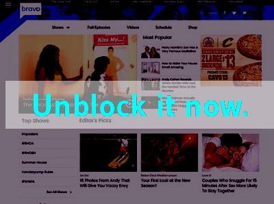 Click here to unblock Bravo TV