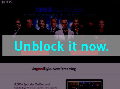 Click here to unblock CBS All Access