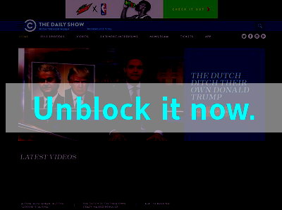Click here to unblock The Daily Show
