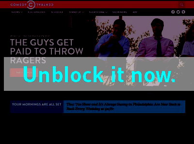 Click here to unblock Comedy Central