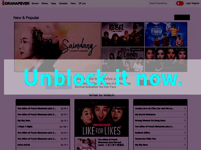 Click here to unblock Dramafever
