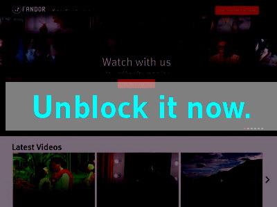 Click here to unblock Fandor