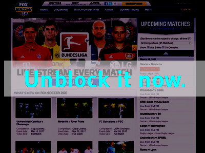 Click here to unblock Fox Soccer 2 Go