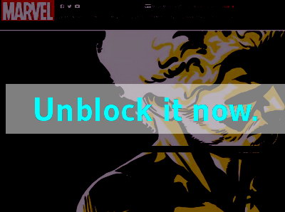 Click here to unblock Marvel