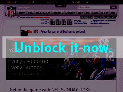 Click here to unblock NFL Sunday Ticket