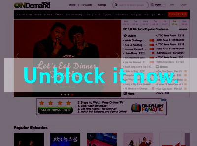 Click here to unblock OnDemandKorea