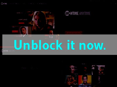 Click here to unblock SHO Anytime