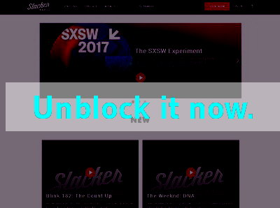 Click here to unblock Slacker