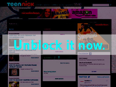 Click here to unblock TeenNick