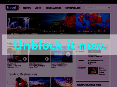 Click here to unblock Travel Channel