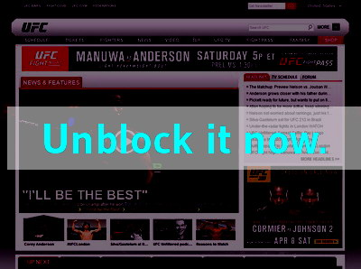 Click here to unblock UFC TV