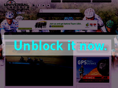 Click here to unblock Universal Sports