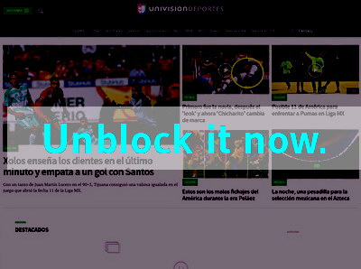 Click here to unblock Univision