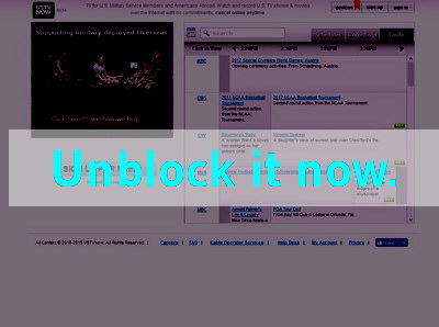 Click here to unblock USTVnow