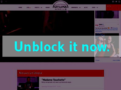 Click here to unblock Utopia