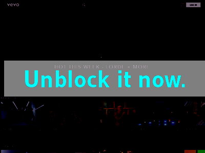 Click here to unblock Vevo