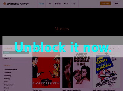 Click here to unblock Warner Instant Archive