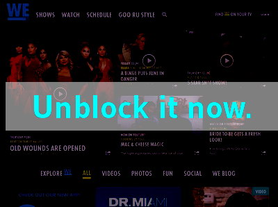 Click here to unblock We TV